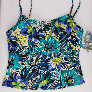 St Johns Bay Swim Floral Print Tankini Top